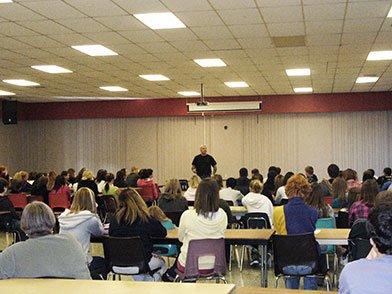 Rick Osborne addressing secondary schools in Haldimand and Norfolk