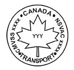 CMVSS Canada NSVAC Transport logo