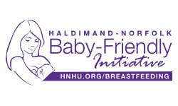Haldimand-Norfolk Baby-Friendly Initiative logo