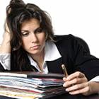 woman looking depressed at work