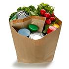 bag of healthy groceries