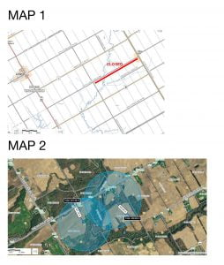 maps of affected areas