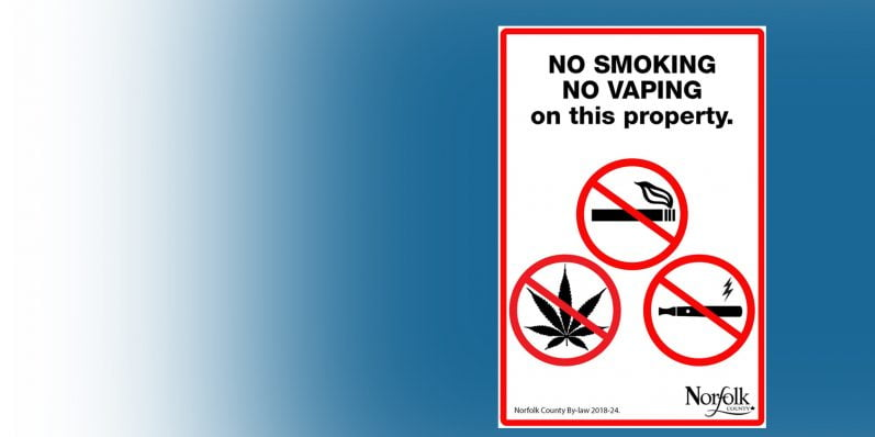 NEW Smoke-Free Outdoor Spaces By-Law for Norfolk County in 2018