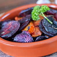 roasted beets ready to serve