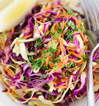 Fresh coleslaw salad
