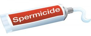 Tube of spermicide